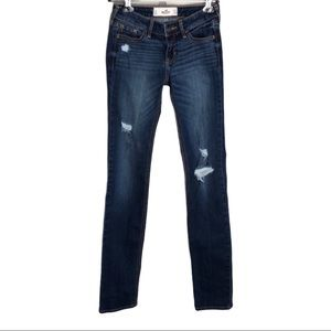 Hollister Straight Leg Distressed Jeans Size 24